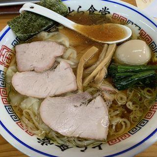 焼豚(チャーシュー)麺 大盛半熟煮卵トッピング