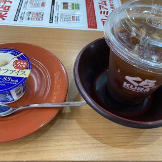 アイスコーヒーとアイス