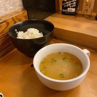 スープ、ごはん(焼肉 御華)