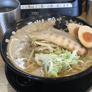 味玉味噌ラーメン(えんまる)