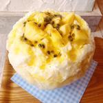 台湾パインとパッションフルーツのレアチーズ
