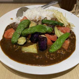 ひき肉と夏野菜のカレー