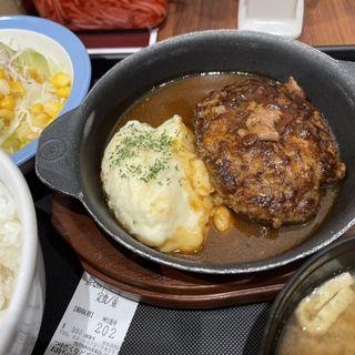 黒毛和牛ハンバーグ定食