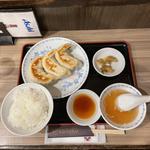 開楽特製 ジャンボ餃子 餃子定食 (3個)