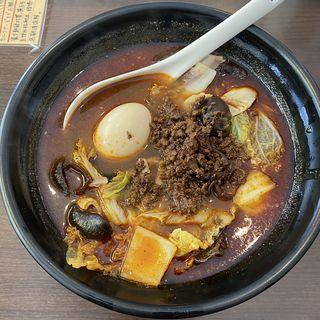 麻辣湯(肉そぼろ、白菜、ホルモン、たまご、きくらけ、もちもち春雨、5辛)