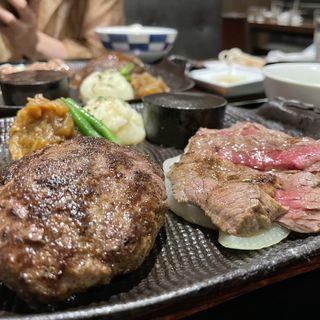 タルタルハンバーグ&腰塚ステーキ