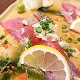 ねぎ塩牛タン寿司