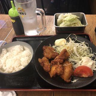 唐揚げ定食 with 無限レモンサワー