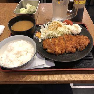 トンカツ定食 with 無限レモンサワー