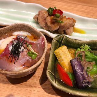前菜の小鉢3種