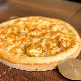 ツナマヨとポテト、コーンのクリームPizza