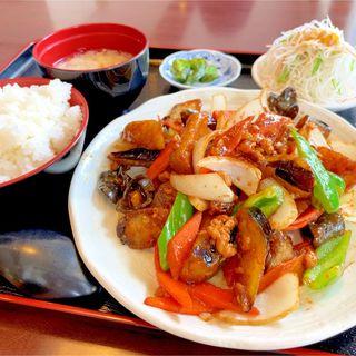 ナス味噌定食