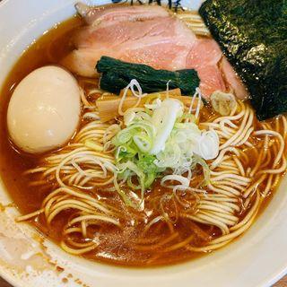 味玉中華そば(醤油.細麺)(仙臺自家製麺こいけ屋)