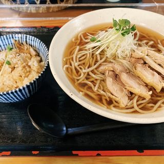 肉蕎麦 鶏めしセット(初代 伝五郎 )