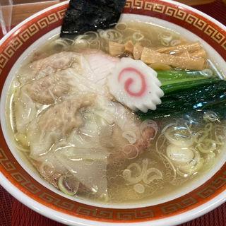 塩中華そば+ワンタン(麺創庵 砂田)