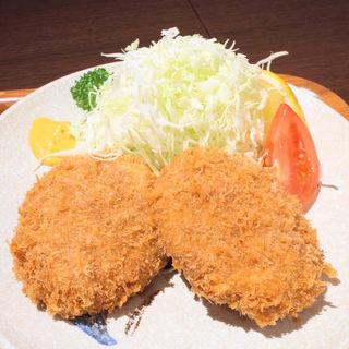 メンチカツ定食(三福亭 )
