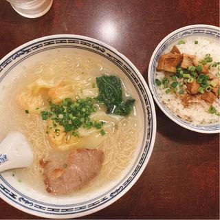 Bセット 香港麺と牛腩飯