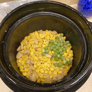 とうもろこしと帆立の土鍋ご飯