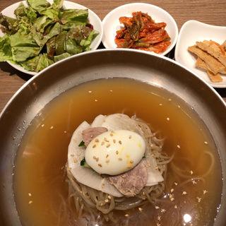 水冷麺定食(焼肉・韓国料理Kollabo(コラボ)横浜みなとみらい店)