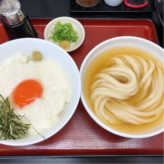 とろろ卵丼ひやかけセット(極楽うどん TKU (ティーケーユー))