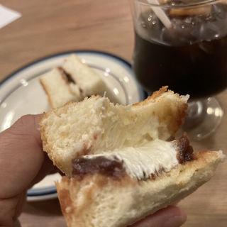 アイスコーヒーとモーニング(小倉トースト)(FANNY (ファニー))