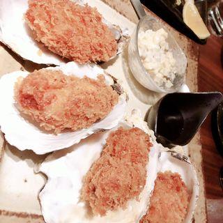 牡蠣フライ いぶりがっこタルタル
