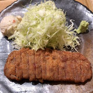 牛かつ明太子定食(牛かつ もと村 横浜ジョイナス店)