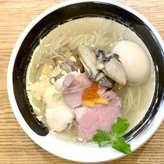 浅利と牡蠣の汐そば(麺処しろくろ)
