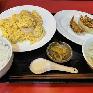 海老と卵炒め定食