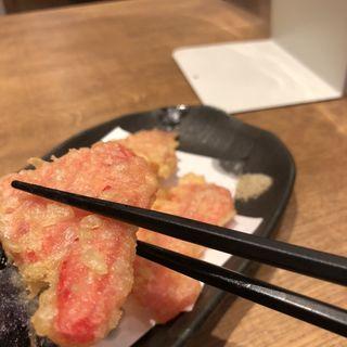 天ぷら 紅しょうが