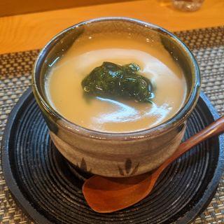 河豚の白子茶碗蒸し