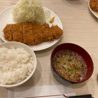 ロースかつ定食(並)