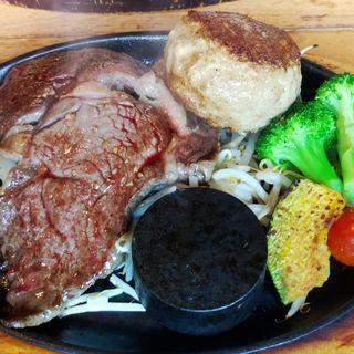 牛リブ&赤身肉ハンバーグ