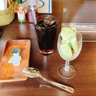 タピオカアイス、アイスコーヒー