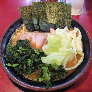 チャーシュー麺+中盛+ほうれん草+キャベツ