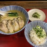 限定広島県産牡蠣の冷やし塩そば&薬味ご飯