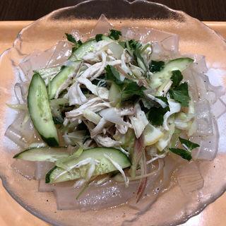 鶏肉山椒レモン冷麺