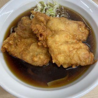 極上太麺鶏天そば(温)