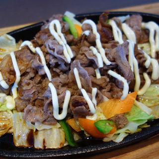 牛肉盛り鉄板定食