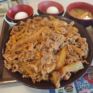 牛丼キング+たまごセット+たまご