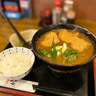 カツカレーうどん(ミニ白ご飯付き)(うどん居酒屋 麦笑 (うどんいざかやムギワラ))