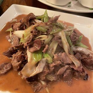 ソンゲンテマハンホーラッグ (葱爆羊肉)