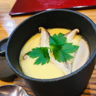 海老と椎茸の茶碗蒸し