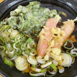 天ぷら小2種 うどん