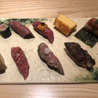 牛肉寿司8貫KINTAN御膳