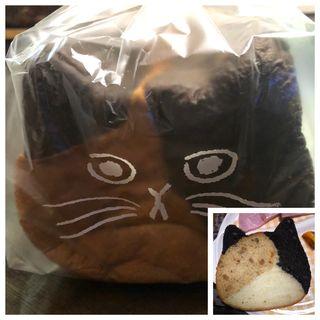 ねこねこ食パン(三毛猫)
