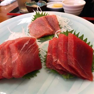 3色マグロ刺身定食