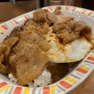スタミナカレー焼玉子入り(バーグ 吉野町店 )