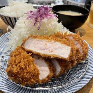 ランチロースかつ定食(とんかつ 檍 日本橋店)