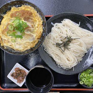 カツ丼定食(ザルそば)